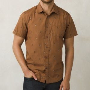 Prana Broderick Carabiner Printed Button Down